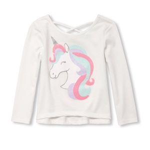 NWT White Unicorn Long Sleeve Top Shirt 18-24mo
